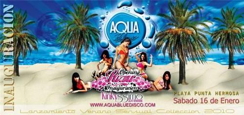 Inauguración Aqua Blue Disco