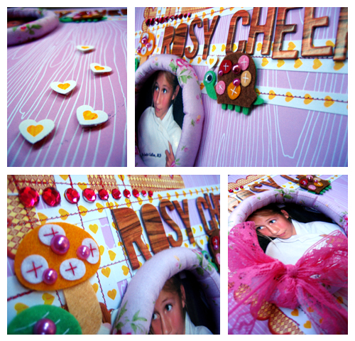 PNA Rosy Cheeks Layout Collage