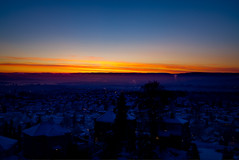 I just love colourful sunsets (Joaaso) Tags: city trees houses winter sunset sky urban snow cold nature oslo norway by night clouds lights evening norge vinter twilight catchycolours rooftops streetlights natur himmel national gran bluehour lys geographic natt skyer sn solnedgang kulde lightroom skumring kveld trr grefsenkollen bltime canonefs1755mmf28isusm canoneos450d