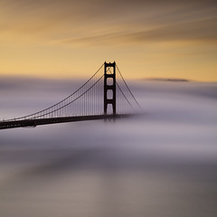 Painted Foggy Sunrise  At The Golden Gate (maxxsmart) Tags: ocean sanfrancisco california longexposure sky seascape color fog clouds sunrise canon explore goldengatebridge cables lee bayarea marincounty frontpage marinheadlands ef2470f28l bratanesque bwnd110 ostrellina 5dmarkii 39gnd