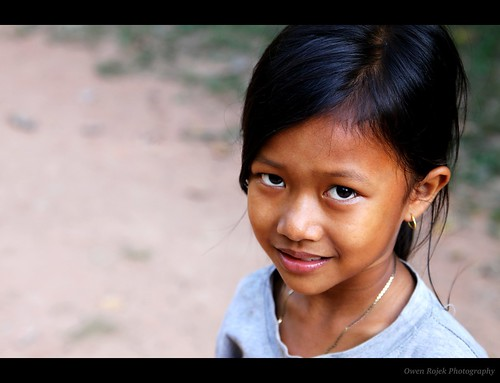 Kids in Cambodia - Guarded Smile