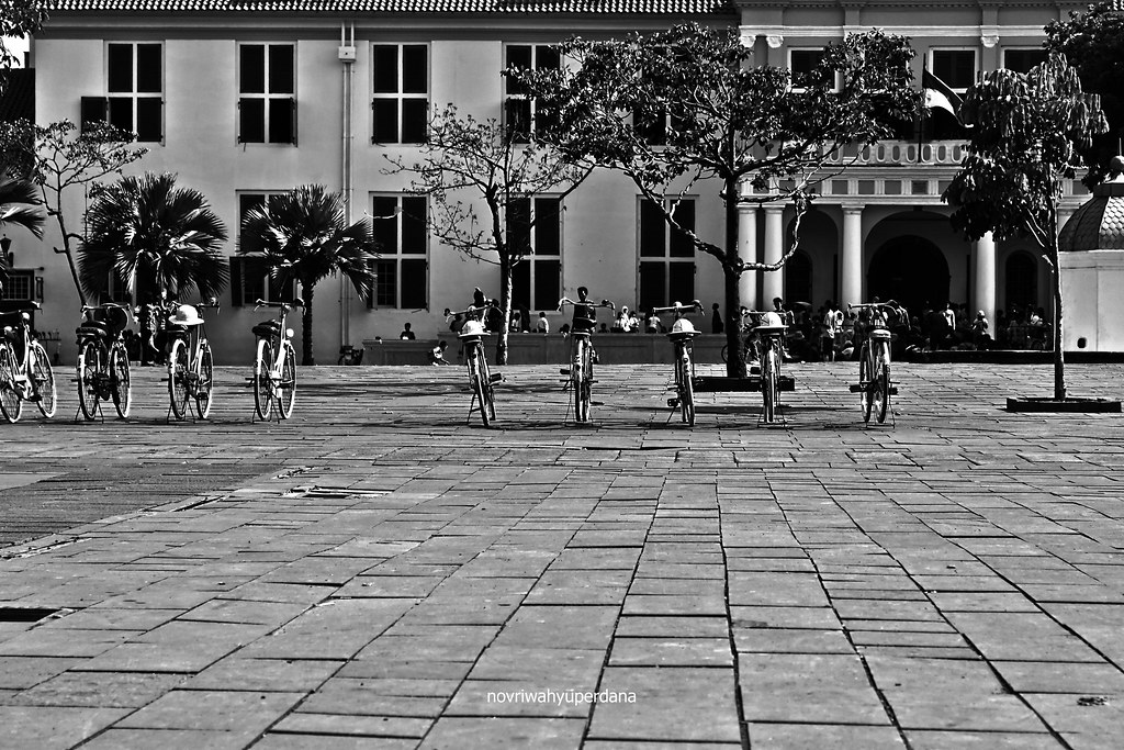 The Ontel Bicycles Parked at The Old City Hall Square (Stadhuisplein)