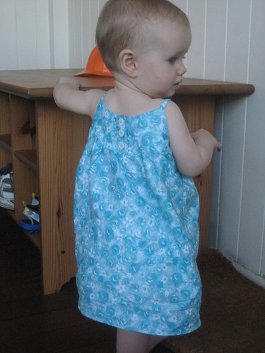 swingset dress (back) in action