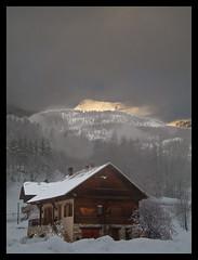 PSV (@lain G) Tags: chalet neige nuit hautesalpes francelandscapes vacances2010
