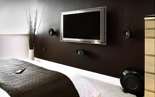 LCD TV and sound installation