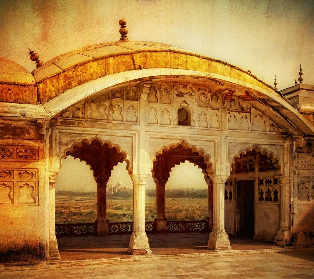 The Taj from Akbar's Palace