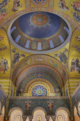 Cathedral Basilica of Saint Louis, in Saint Louis, Missouri, USA - historical mosaics