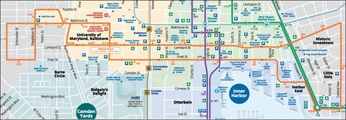 Orange Route, Charm City Circulator (by: Charm City Circulator)