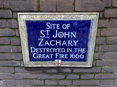 Photo of St. John Zachary blue plaque