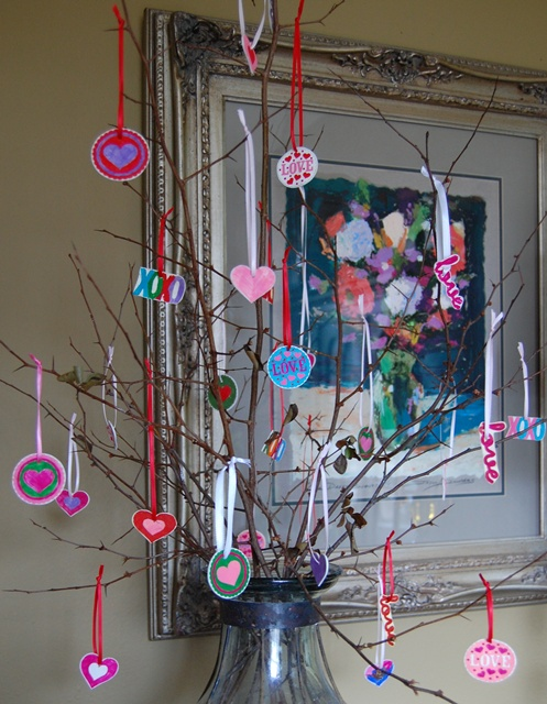 Shrinky Dinky Valentine's Tree