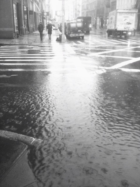 there's a lake forming on Broome st #walkingtoworktoday