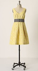 Longing-For-Yellow Dress at Anthropologie