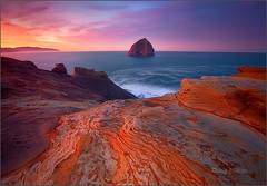 Kiwanda at Sunrise (Chip Phillips) Tags: ocean rock oregon sunrise landscape photography coast pacific phillips haystack chip cape kiwanda
