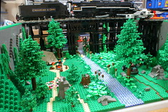 Eastwood Ravine (SavaTheAggie) Tags: wood trestle bridge train texas lego display group beam valley ravine beams module users creosote texlug