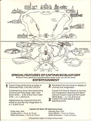 Captain EO Blast off flier back