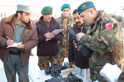 Turkish officer trains Afghan National Police and Afghan National Army