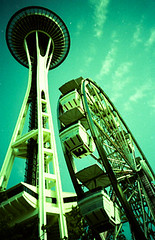 Lomo LC-A+ RL (hier0glyphics) Tags: seattle lomo lca xpro lomography crossprocessed fuji cross lomolca chrome spaceneedle fujichrome provia processed provia100f xprod crossproccessing lomolcarl lcarl