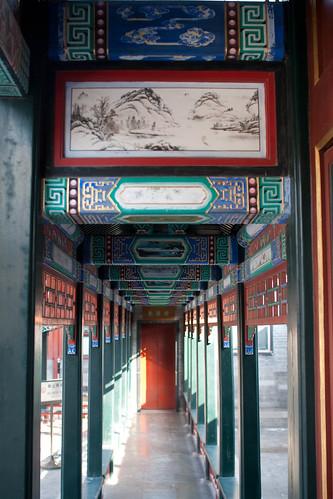 Decorated hallway