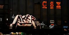 aker (mightyquinninwky) Tags: railroad graffiti tag graf railway tags tagged railcar va boxcar graff graphiti aker csx ags trainart rollingstock paintedtrain railart ebt spraypaintart reflectivetape movingart taggedtrain iok paintedsteel railroadart taggedboxcar datshit paintedboxcar paintedrailcar taggedrailcar skume