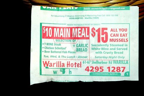 Warilla Hotel $15 All You Can Eat Mussells. Shop-A-Docket