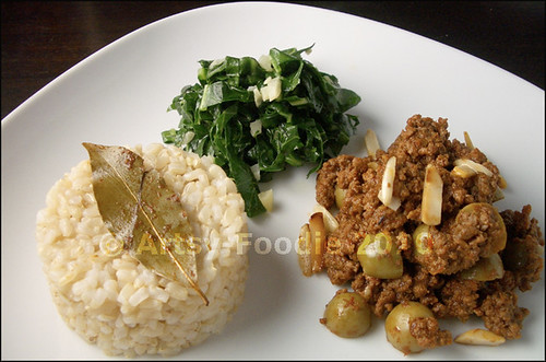 Picadillo in plate