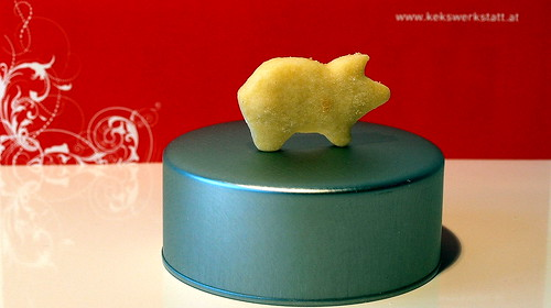 Glücksschweinchen aus der Kekswerkstatt