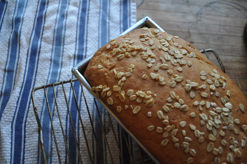 Oatmeal Bread Out of Oven