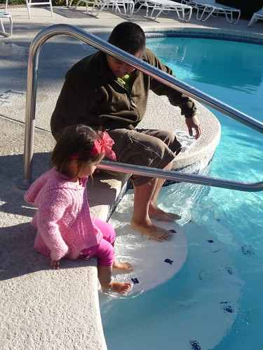 Dipping our feet in the pool