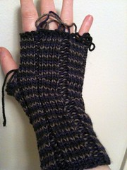 Helix fingerless mitts (unfinished)