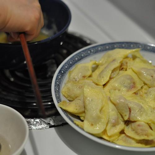 Egg dumpling