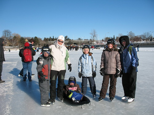 The gang on ice