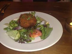 Fishcake at The Compass, Leith, Edinburgh