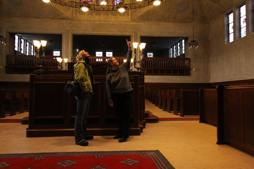 Me and Esly in the synagogue...