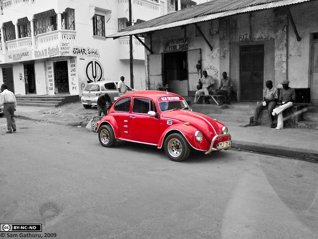 Vintage VW - Spot Coloured