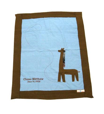 Organic Baby Blanket - Brown Giraffe