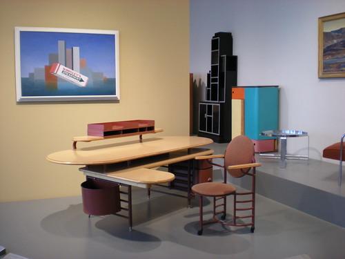 Johnson Wax desk and chair, Frank Lloyd Wright