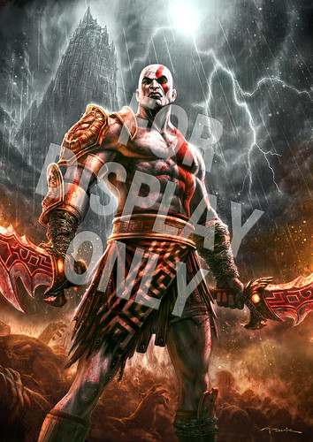 God of War III Gamestop poster