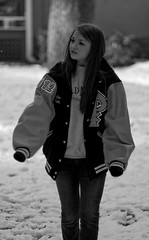 whats back there? ([ Ben ]) Tags: blue atlanta white snow black hot girl face canon ga collier photography gold high pretty track bokeh band picture 85mm william jacket smiley letter p benjamin f18 18 barnes 2012 teenage schoo highscool dipietro 40d aubriann