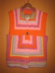 StripedVest1_Dec09 (Foksik) Tags: knitting stripes leftovers vest