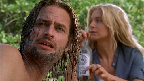 Lost's Sawyer and Juliet with Dharma Rum