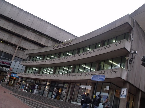 Birmingham Central Library from Chamberlain Square