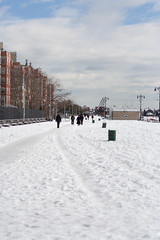 Brighton Beach Boardwalk Snowed Over