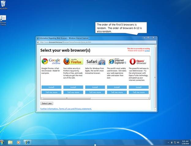 Microsoft Fixes Browser Choice Screen (BCS) Issue on 28 million Windows 7 SP 1 PCs in Europe