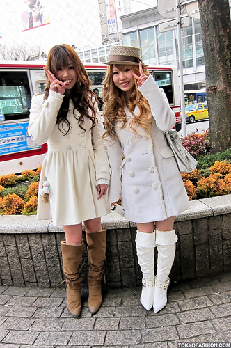 Cute Shibuya Girls in White