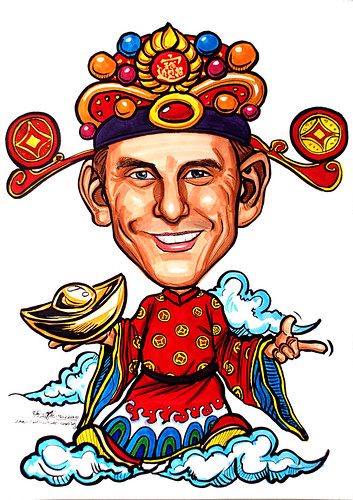 Caricature for Informa Group - God of Fortune 财神爷