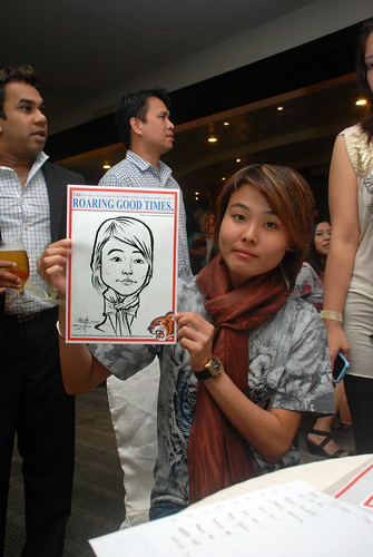 Caricature live sketching for Informa Group -6