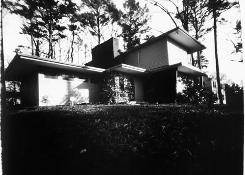 Paper pinhole house, take 2