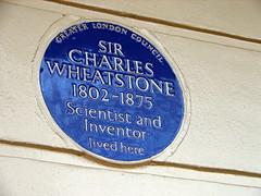 Photo of Charles Wheatstone blue plaque