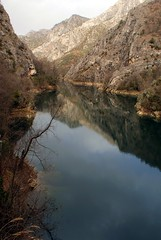 Matka Canyon (kosova cajun) Tags: lake mountains reflection landscape macedonia balkans skopje treska makedonija liqen peisazh shkupi shkup southeasterneurope maqedonia lakematka matkacanyon