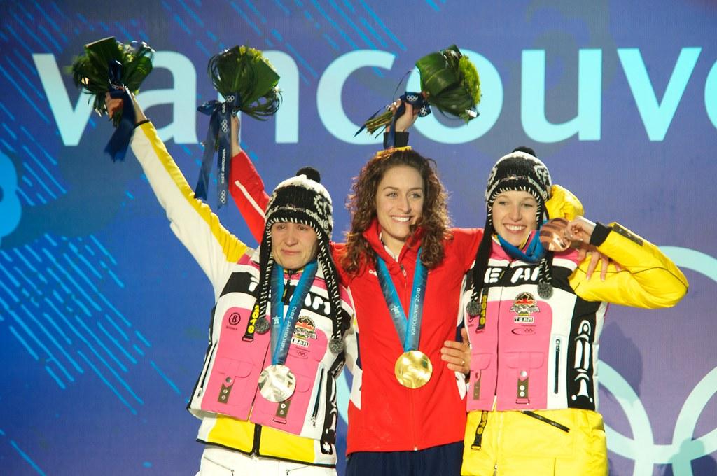 Kerstin Szymkowiak Amy Williams and Anja Huber
